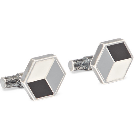 Enamelled Sterling Silver Cufflinks