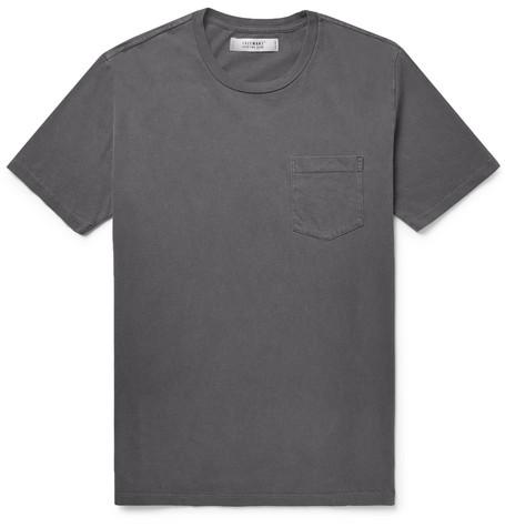 FREEMANS SPORTING CLUB Cotton-Jersey T-Shirt in Dark Gray