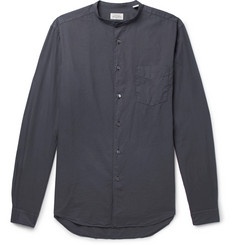 Hartford Premium Pat Grandad-Collar Cotton Shirt