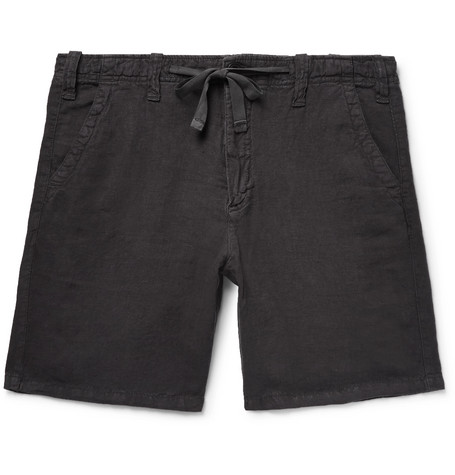Slim-fit Linen-chambray Drawstring Shorts Hartford xMfcTq