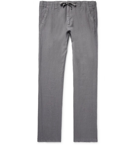 Troy Slim-fit Linen-chambray Drawstring Trousers Hartford EtYPEt