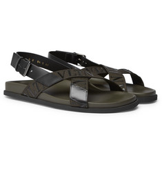 Valentino - Valentino Garavani Logo-Detailed Leather and Webbing Sandals