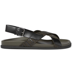 Valentino Valentino Garavani Logo-Detailed Leather and Webbing Sandals
