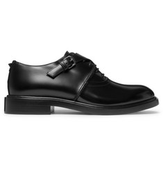 Valentino Valentino Garavani Buckle-Detailed Leather Derby Shoes