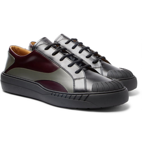Valentino Garavani Helix Panelled Leather Sneakers by Valentino