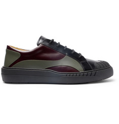 Valentino Valentino Garavani Helix Panelled Leather Sneakers
