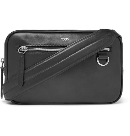 Tod's – Leather Messenger Bag – Black