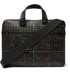 Bottega Veneta - Embroidered Intrecciato Leather Briefcase