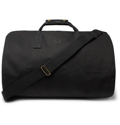 Bennett Winch - Leather-Trimmed Cotton-Canvas Suit Carrier and Holdall