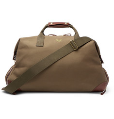 Bennett Winch Weekender Leather-Trimmed Twill Holdall