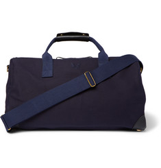 Bennett Winch Commuter Leather-Trimmed Twill Holdall