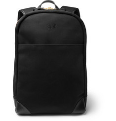 Bennett Winch Leather-Trimmed Twill Backpack