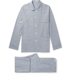 Anderson & Sheppard Prince Of Wales Checked Brushed Cotton-Twill Pyjama Set