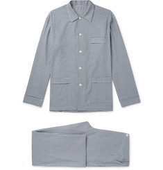 Anderson & Sheppard Gingham Brushed Cotton-Twill Pyjama Set