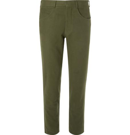 ANDERSON & SHEPPARD Slim-Fit Cotton-Moleskin Trousers