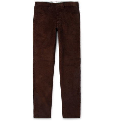 Slim-fit Cotton-corduroy Trousers