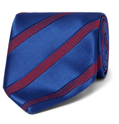 Charvet 7.5cm Striped Wool and Silk-Blend Jacquard Tie
