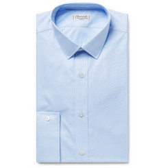 Charvet - Light-Blue Puppytooth Cotton Shirt