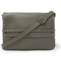 Valentino Valentino Garavani Rockstud Full-Grain Leather Messenger Bag