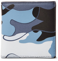 Valentino Valentino Garavani Camouflage-Print Leather and Canvas Wallet