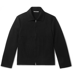 Valentino Appliquéd Wool and Cashmere-Blend Blouson Jacket