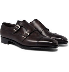 George Cleverley - Caine Leather Monk-Strap Shoes