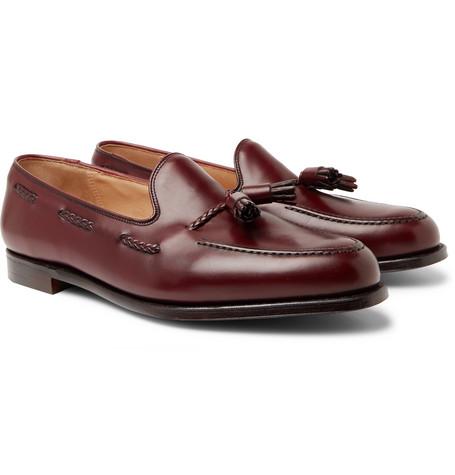 Aidan Leather Tasselled Loafers - Burgundy