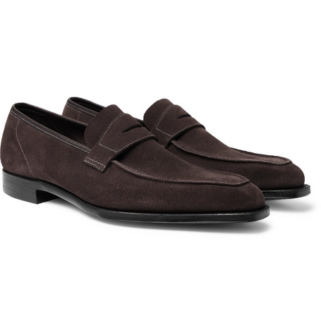 George Suede Penny Loafers - Dark gray