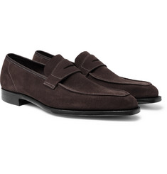 George Cleverley - George Suede Penny Loafers
