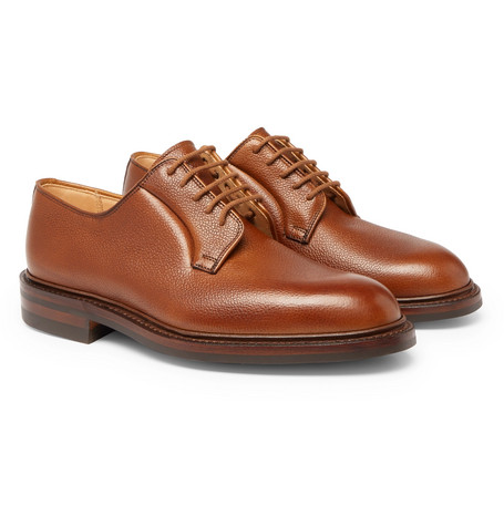 Archie Full-grain Leather Derby Shoes - Tan