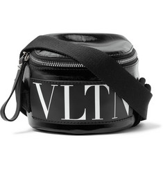 Valentino Valentino Garavani Logo-Print Coated-Twill Belt Bag