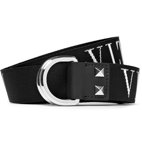 3cm Leather-trimmed Logo-detailed Canvas Belt