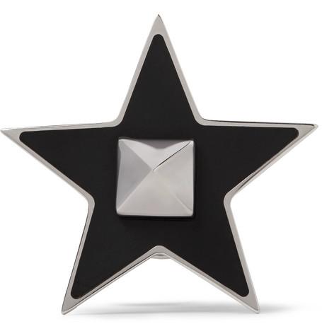 Valentino Garavani Enamelled Silver-tone Pin