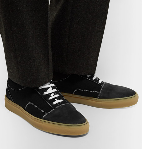 Cap Toe Canvas And Nubuck Sneakers by Common Projects