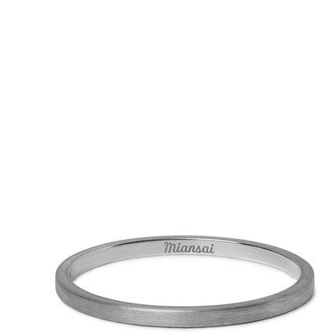 MIANSAI BRUSHED STERLING SILVER RING