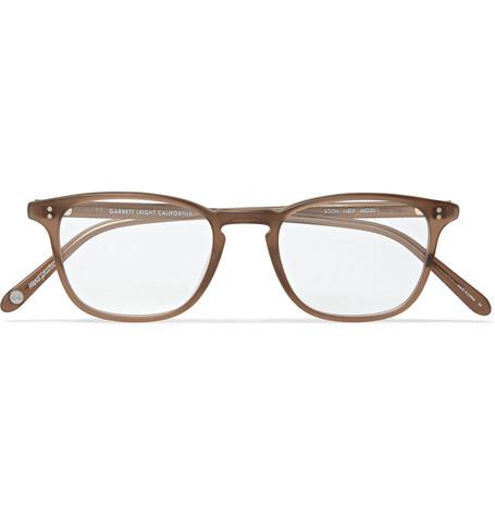 1d5bd007f5f Garrett Leight California Optical Boon 48 D-Frame Matte-Acetate Optical  Glasses In Brown