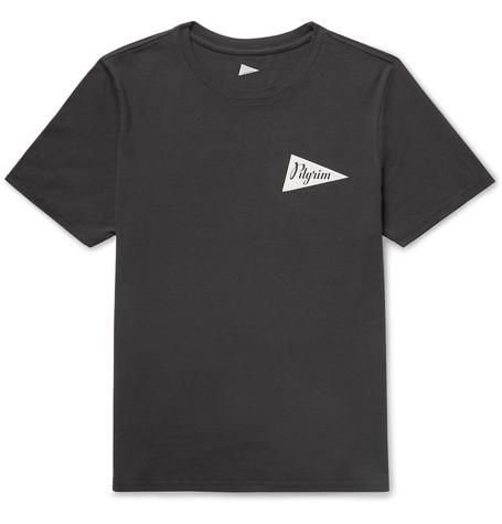 PILGRIM SURF + SUPPLY Logo-Print Cotton-Jersey T-Shirt in Black