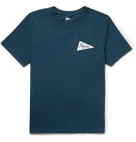 Logo Print Cotton Jersey T Shirt by Pilgrim Surf + Supply
