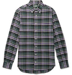 Gitman Vintage - Slim-Fit Button-Down Collar Checked Brushed Cotton-Flannel Shirt