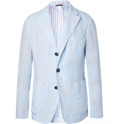 Barena - Light-Blue Unstructured Striped Linen Blazer