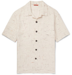 Barena - Camp-Collar Mélange Linen-Blend Shirt