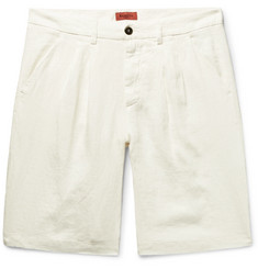 Barena Pleated Linen Shorts