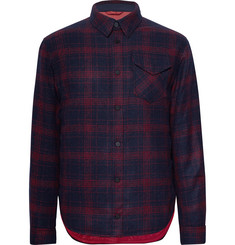 Aztech Mountain Lenado Checked Wool-Blend Flannel Padded Overshirt