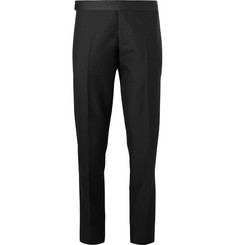 Berluti Black Slim-Fit Wool Tuxedo Trousers