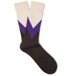 Anonymous Ism Chevron Colour-Block Knitted Socks