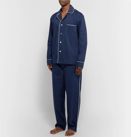 Lowell Cotton Pyjama Shirt by Sleepy Jones