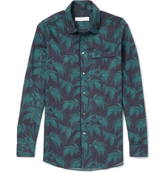 Desmond & Dempsey - Printed Cotton Pyjama Shirt