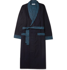 Desmond & Dempsey - Brushed Cotton-Jersey Robe