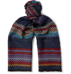Missoni - Fringed Zigzag Wool Scarf