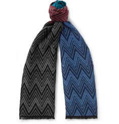 Missoni - Fringed Colour-Block Wool Scarf